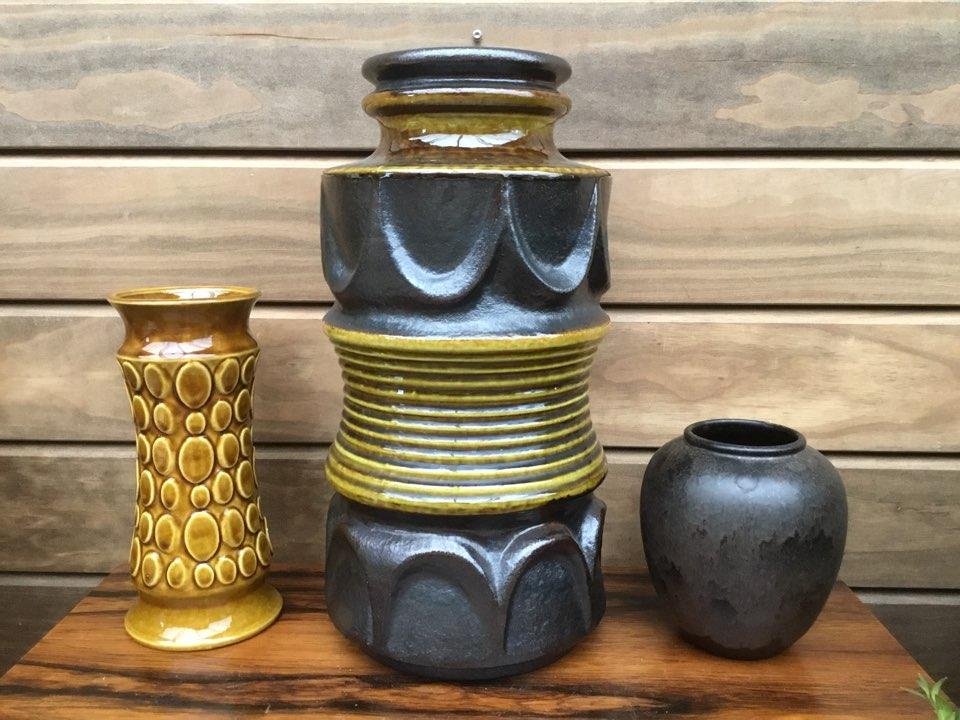 west germany, vase, gulvvase, fat lava, scheurich, stellar, jabs