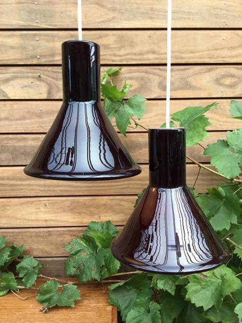 holmegaard, overfangsglas, danish design, glaslampe, mudblæst glas, paulinkdk, vejle, belysning, loftlampe